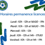 Horaires permanence licences
